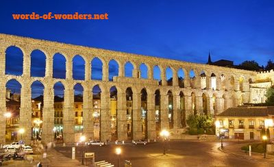 words wonders aquedut of segovia