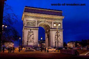 words wonders Łuk Triumfalny W Paryżu