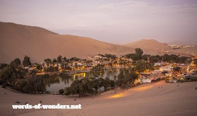 words wonders oasis desertique huacachina