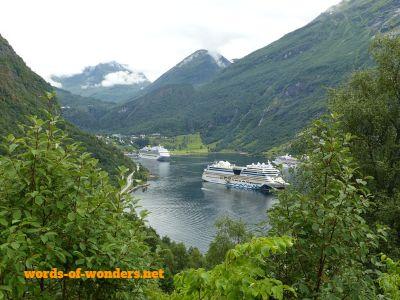 words wonders geirangerfjord