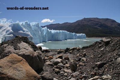 words wonders geleira perito moreno