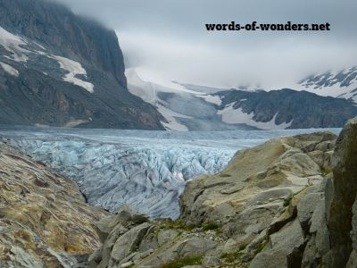 words wonders glacier du rhone