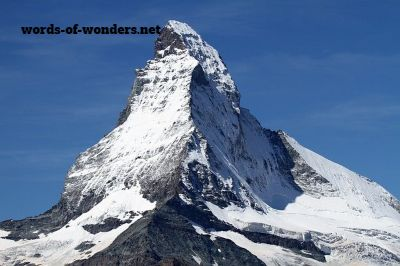 words wonders matterhorn