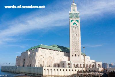 words wonders mosquée du roi hassan