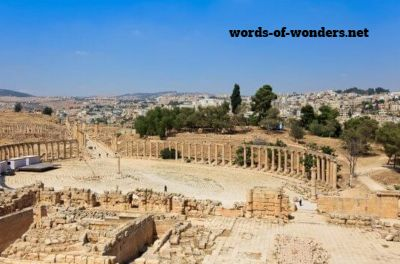 words wonders place ovale de jerash
