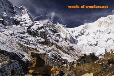 words.wonders santuario des annapurnas