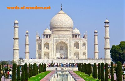 words wonders taj mahal