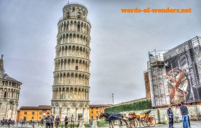 words wonders torre de pisa