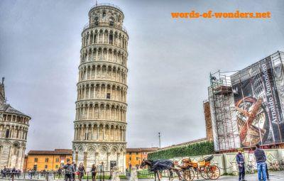 words wonders torre de pisa