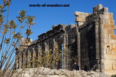 words wonders site archeologique de volubilis