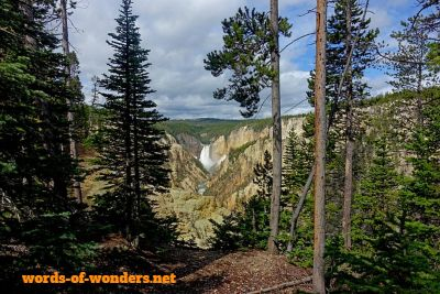 words wonders parque nacional yellowstone